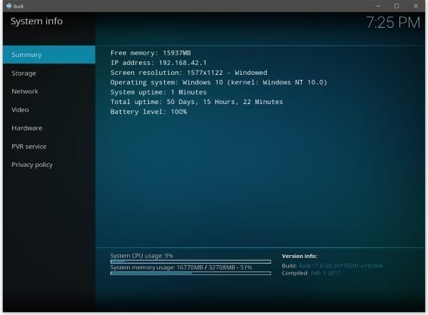 Ip address in kodi